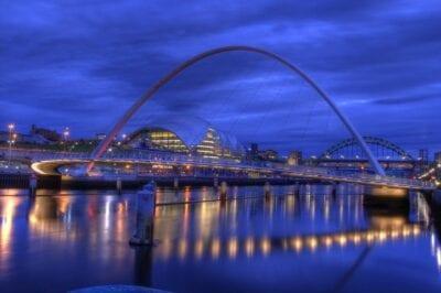 Puente Del Milenio Gateshead Newcastle Reino Unido