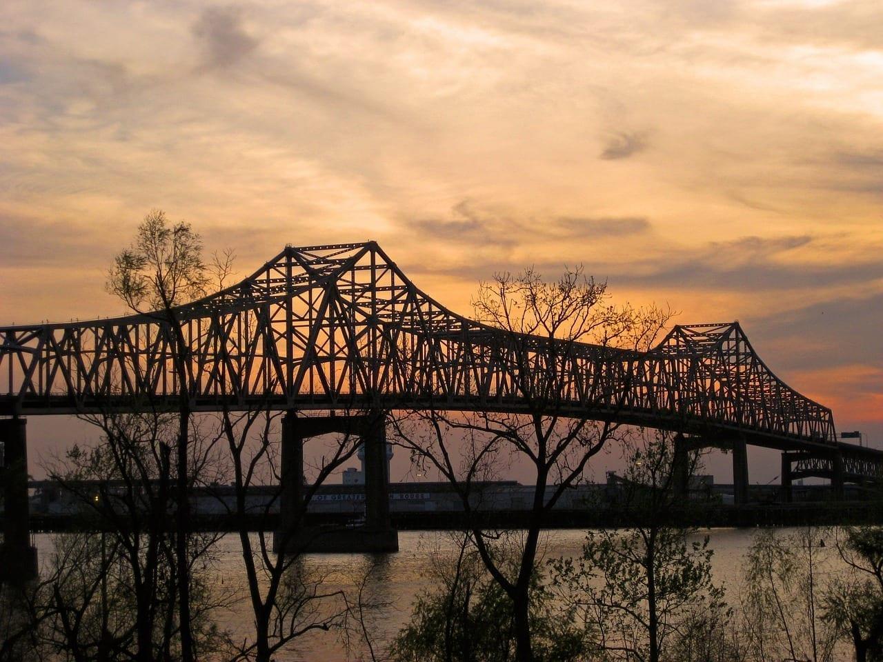 Puente Río Mississippi Baton Rouge Estados Unidos