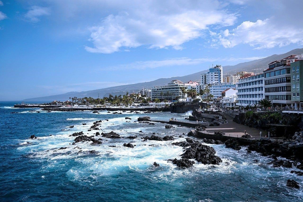 Puerto De La Cruz Tenerife Bahía España