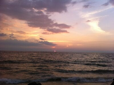 Puesta De Sol Colombo Sri Lanka Sri Lanka
