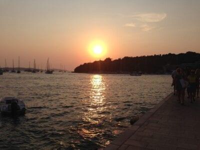 Puesta De Sol Croacia Zadar Croacia
