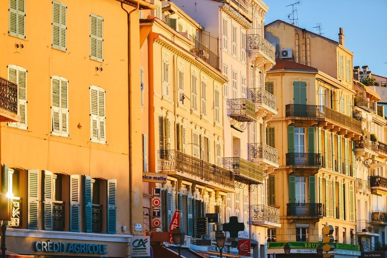 Puesta De Sol Fachadas Cannes Francia