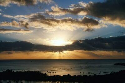 Puesta De Sol Honolulu Hawaii Estados Unidos