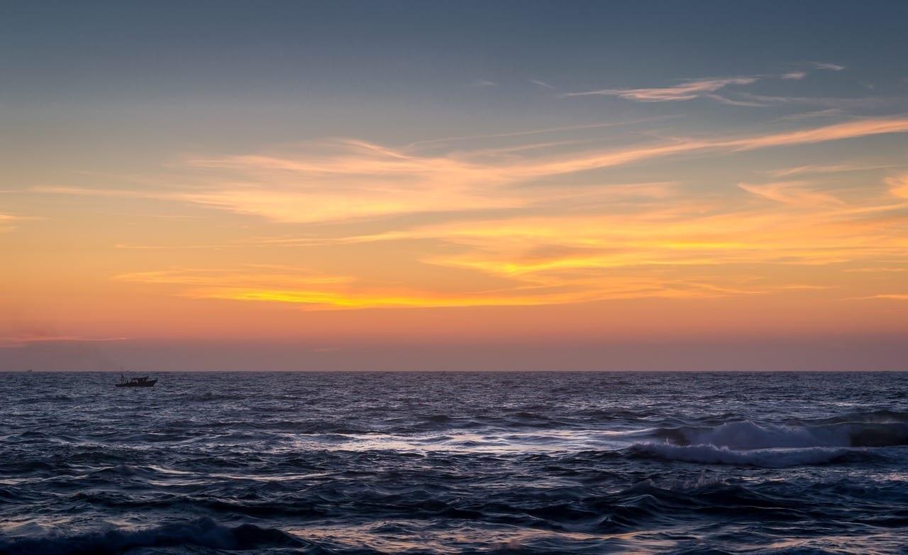Puesta De Sol Mar Alejandría Egipto
