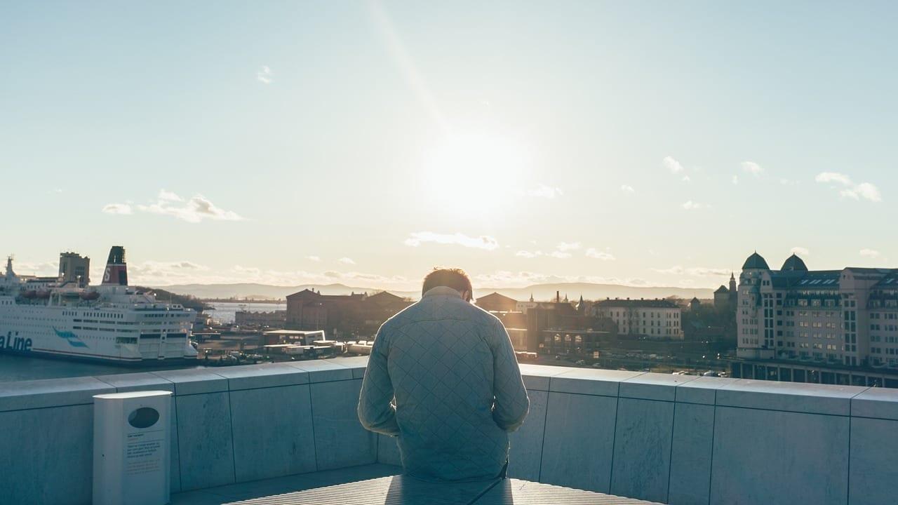 Puesta De Sol Oslo Ferry Noruega