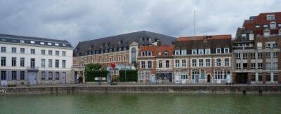 Quai du Wault y Couvent (convento) des Minimes Lille Francia