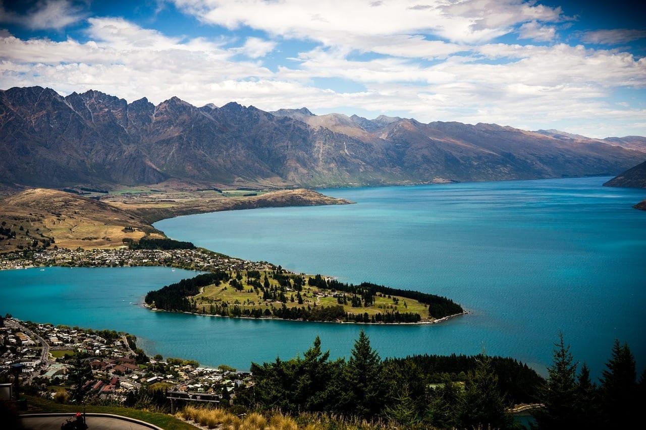 Queenstown Nueva Zelanda Lago Wakatipu Nueva Zelanda