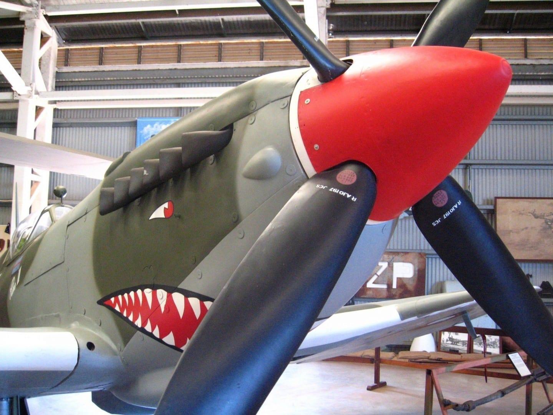 Réplica de Spitfire en la Sociedad Histórica de la Aviación del Territorio del Norte Darwin Australia
