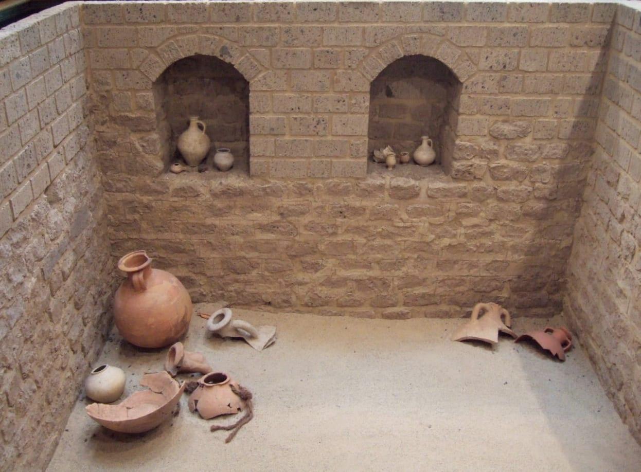 Restos de una antigua casa romana en Bonn Bonn Alemania