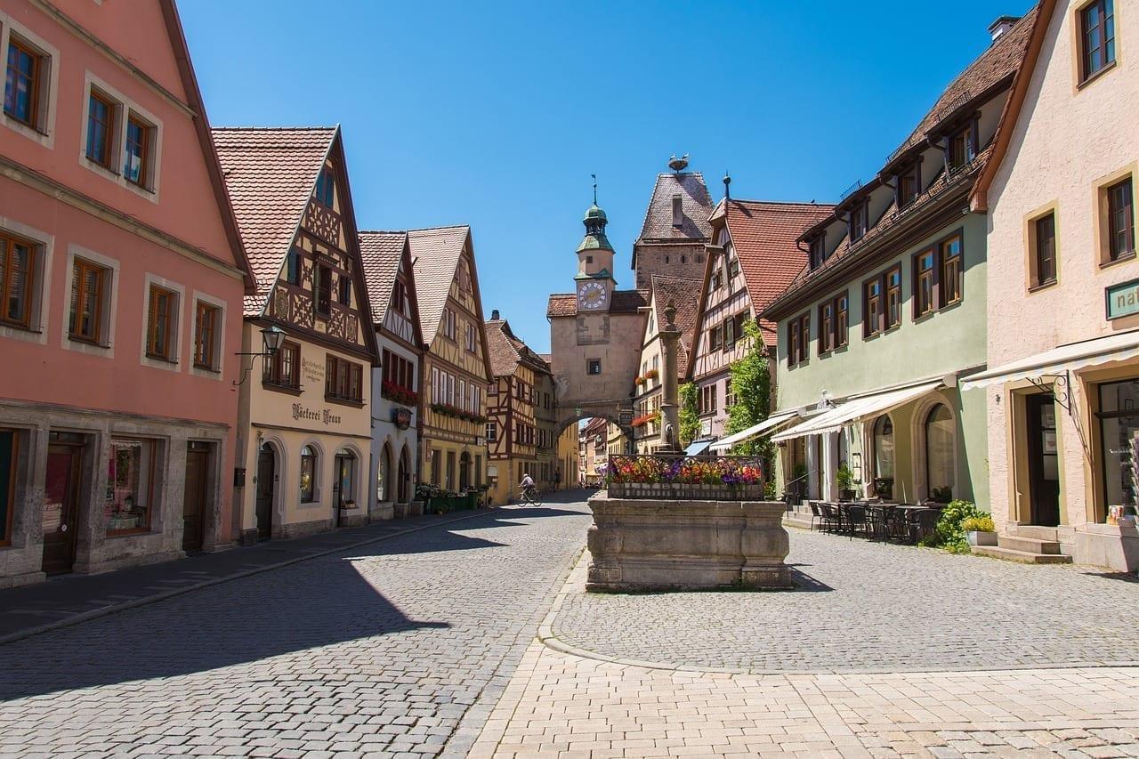 Rothenburg Ob Der Tauber Ciudad Arquitectura Alemania