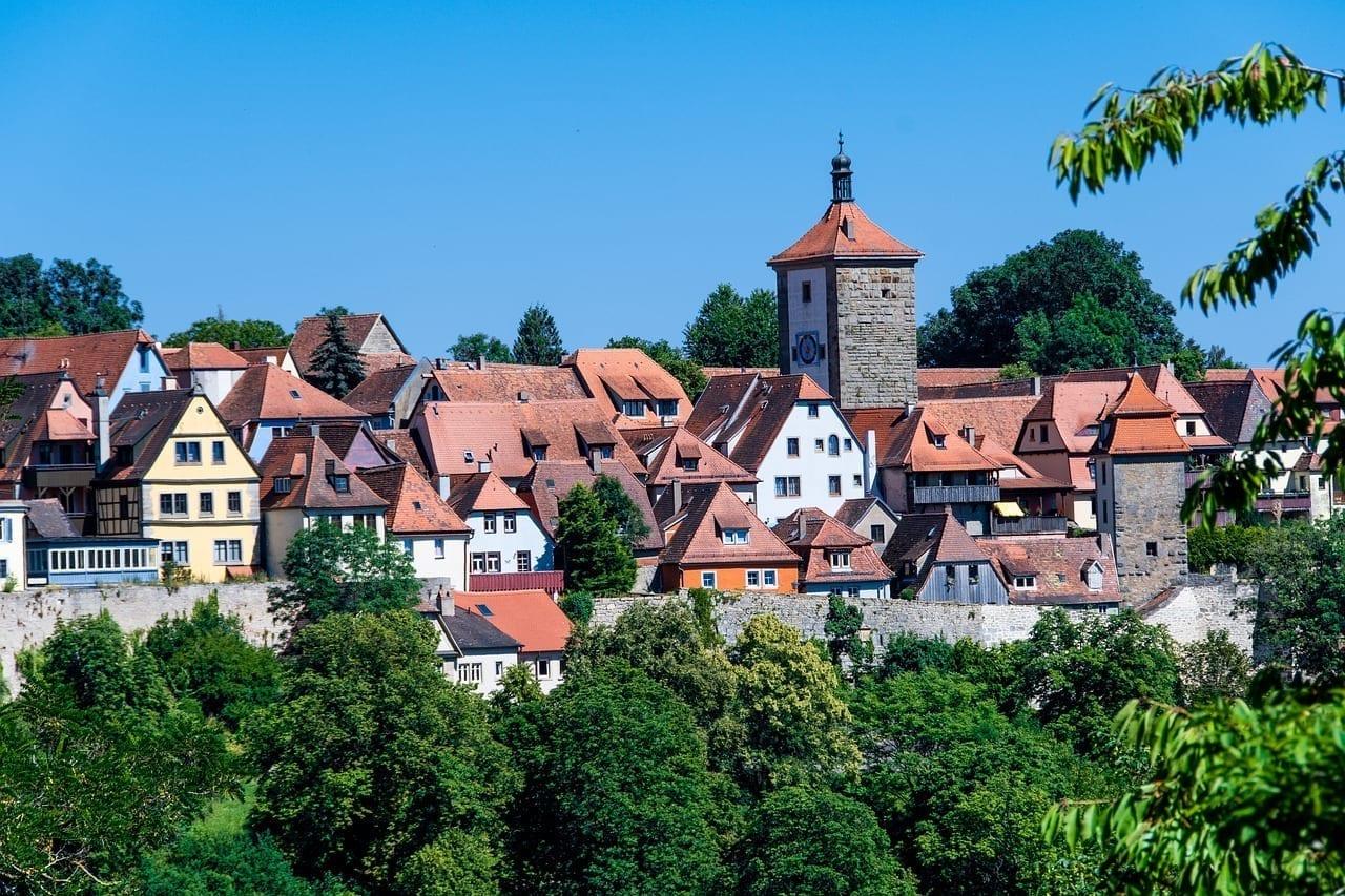Rothenburg Ob Der Tauber Edificios Los Techos Alemania