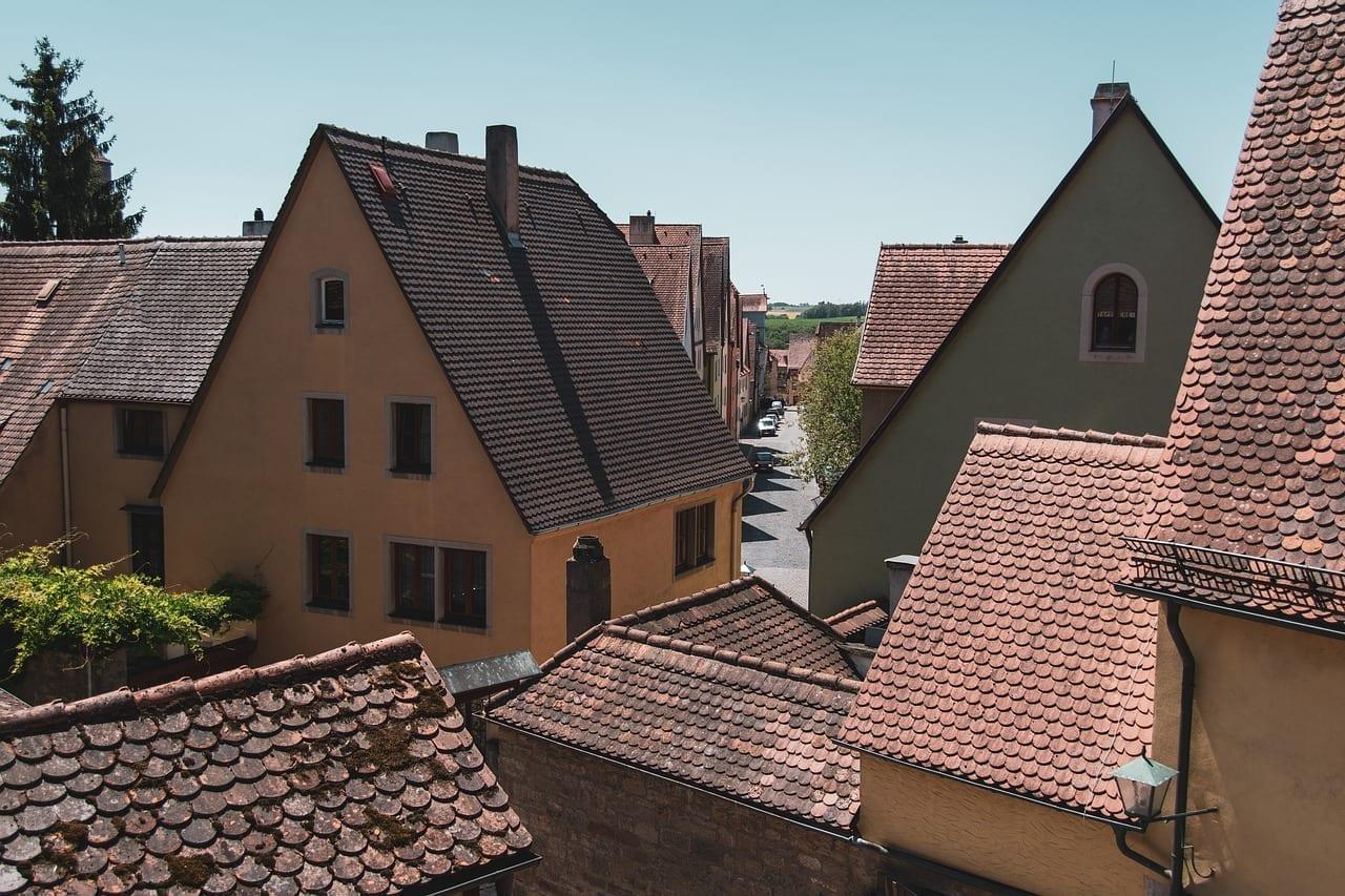 Rothenburg Ob Der Tauber Los Techos Edificios Alemania