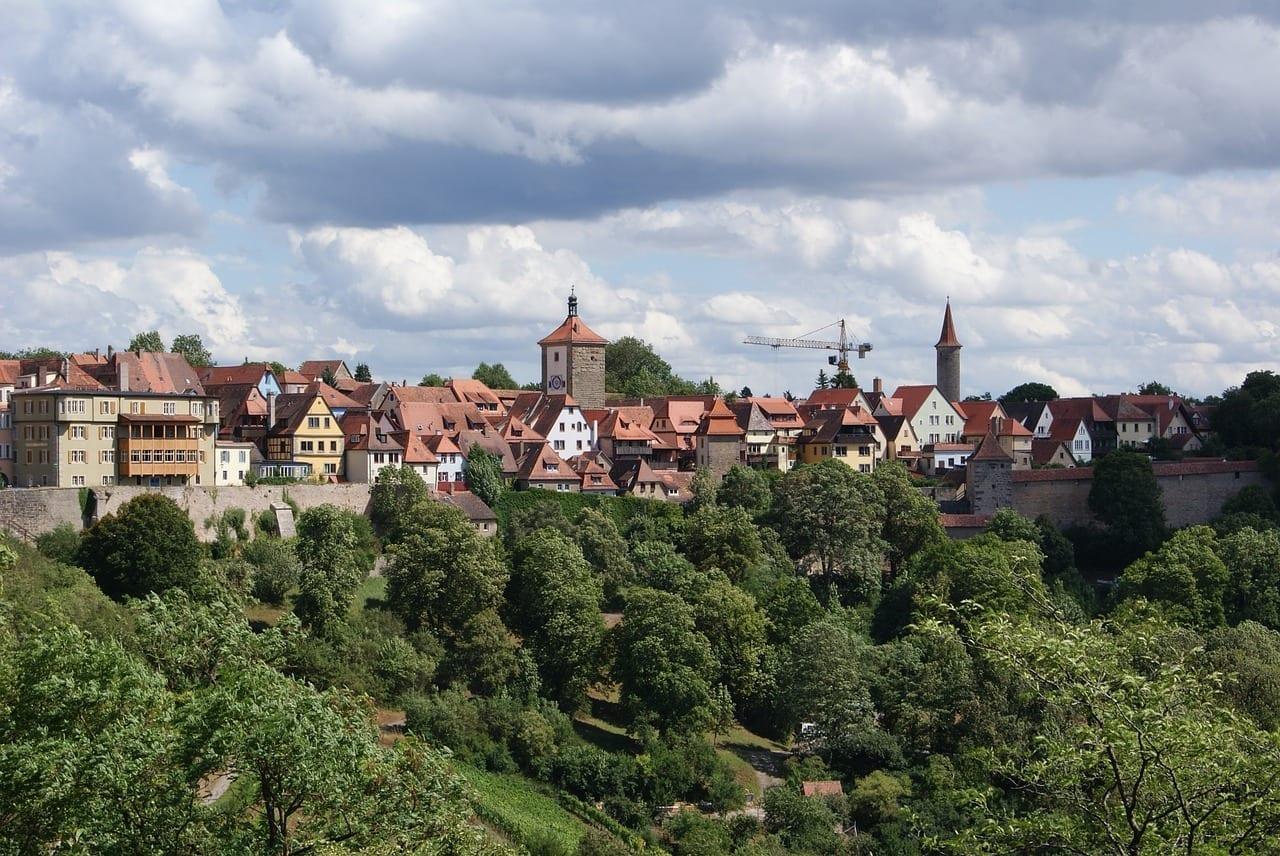 Rothenburg Ob Der Tauber Paisaje Ciudad Alemania