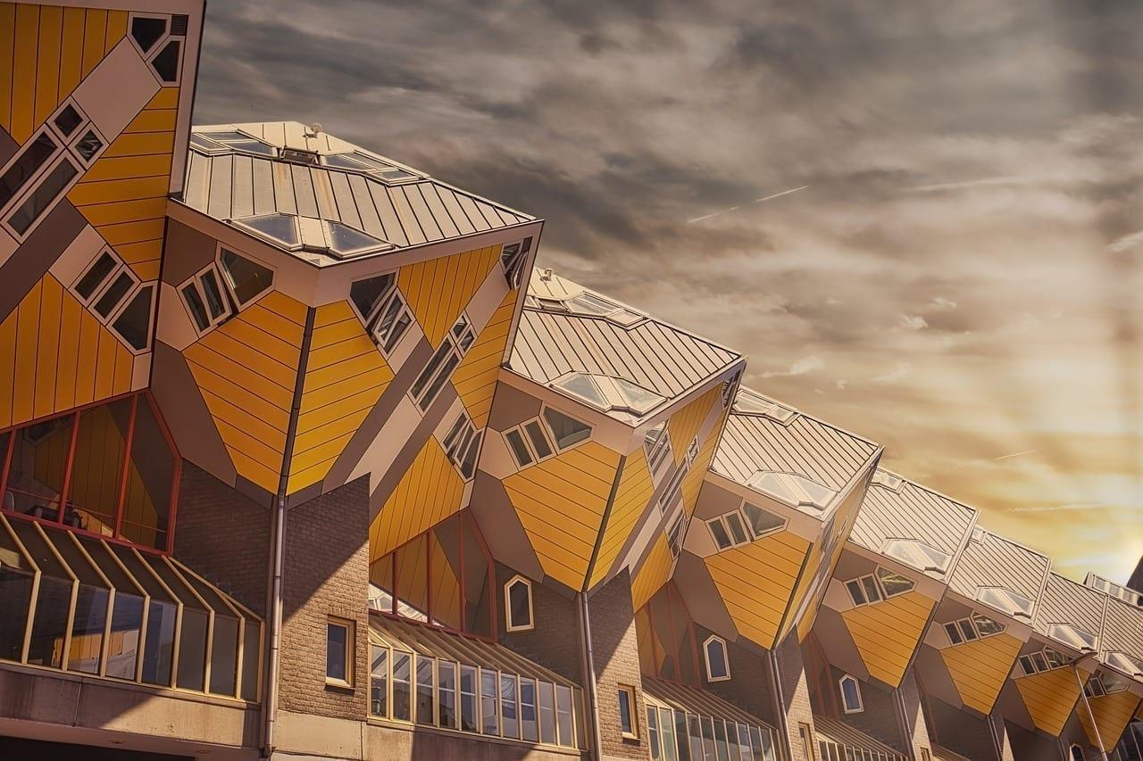 Rotterdam Cuadrados La Construcción De Países Bajos