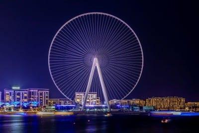 Rueda De La Fortuna Paisaje Dubai Emiratos Árabes Unidos
