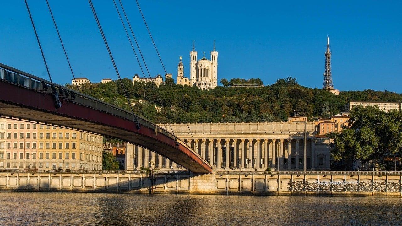 Saint-jean-de Fourvière Vista Lyon Francia