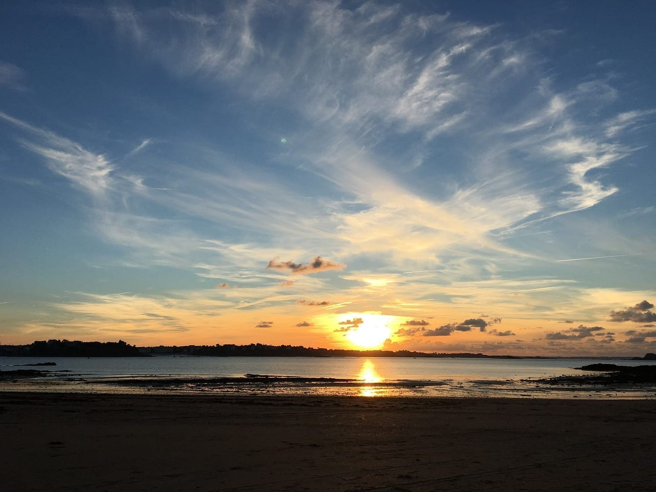 Saint Malo Puesta Del Sol Luz De Vacaciones Francia