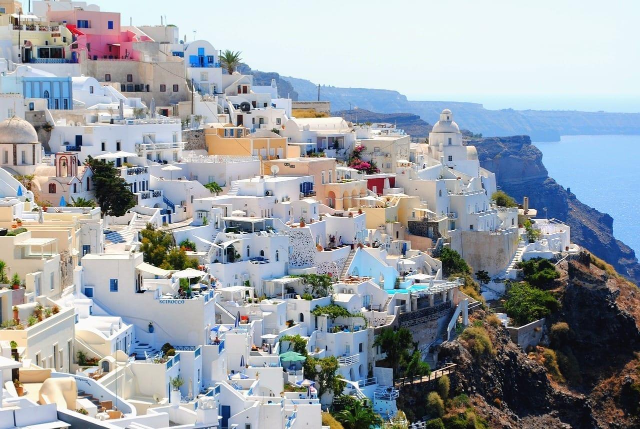Santorini De Viaje Días De Fiesta Grecia