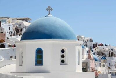 Santorini La Oficina De Auditoría Interna Iglesia Grecia