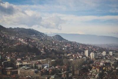 Sarajevo Ciudad Scape Bosnia y Herzegovina