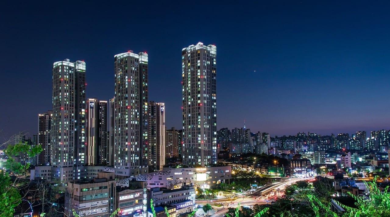 Seúl Vista De Noche Cbd Corea del Sur