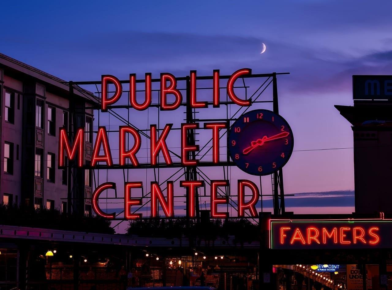 Seattle Washington Puesta De Sol Estados Unidos