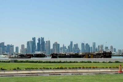 Skyline De Doha Horizonte Doha Catar