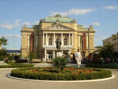 Teatro de Ivan pl. Zajc Rijeka Croacia