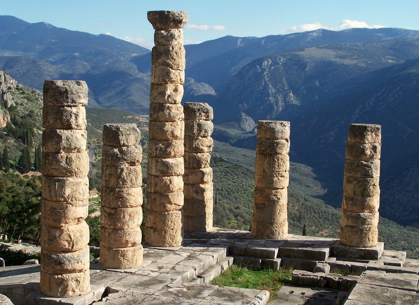 Templo de Apolo en Delfos Delfos Grecia