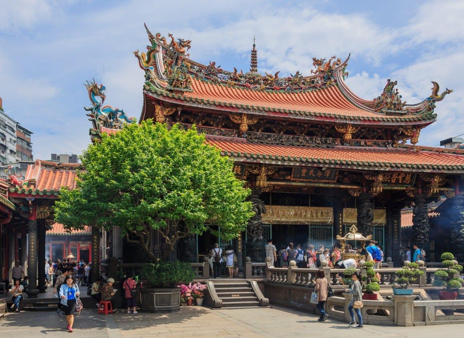 Templo Longshan Taipéi Taiwán