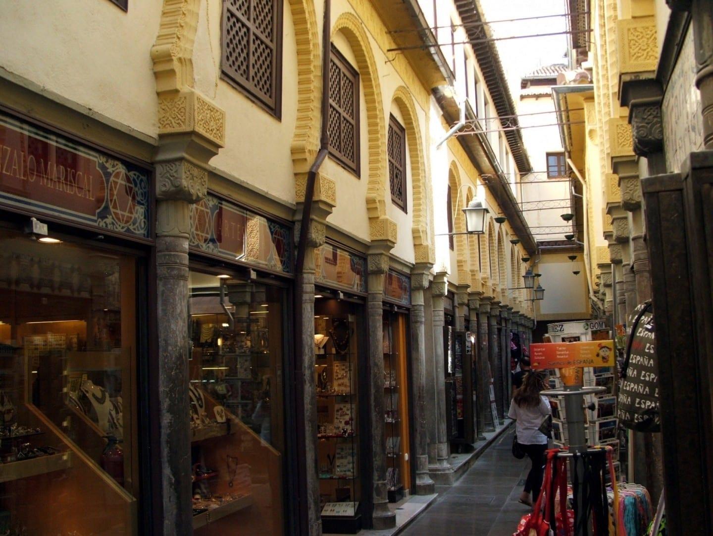 Tiendas en la Alcaicería Granada España