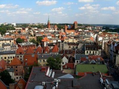 Toruń Wisla Panorama Polonia