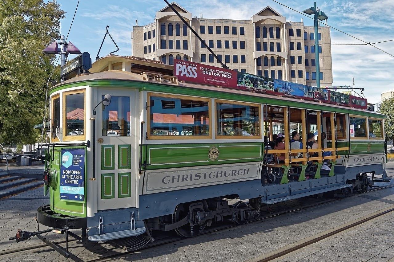 Tranvía Christchurch Históricamente Nueva Zelanda