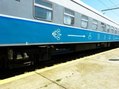 Tren Ferrocarril Samarcanda Uzbekistán