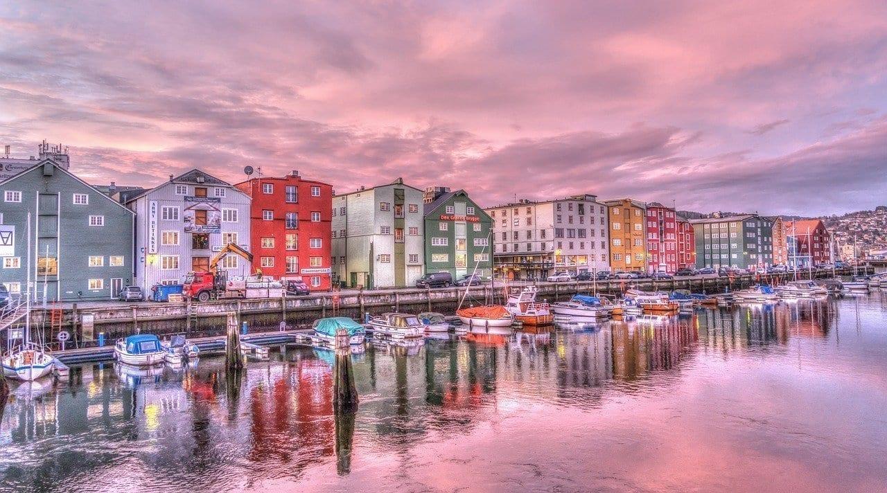 Trondheim Noruega Sunrise Noruega