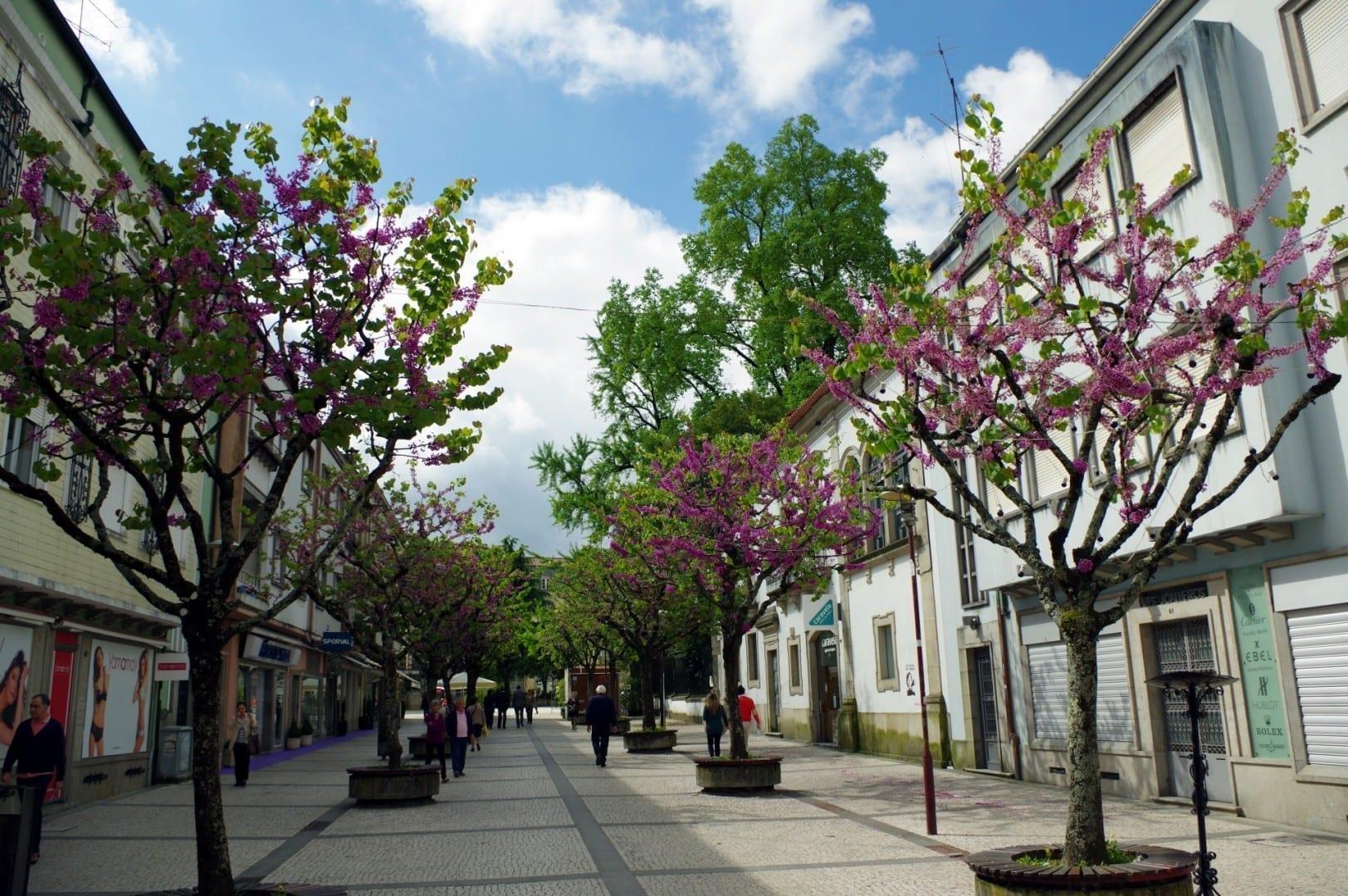 Una calle en Braga Braga Portugal