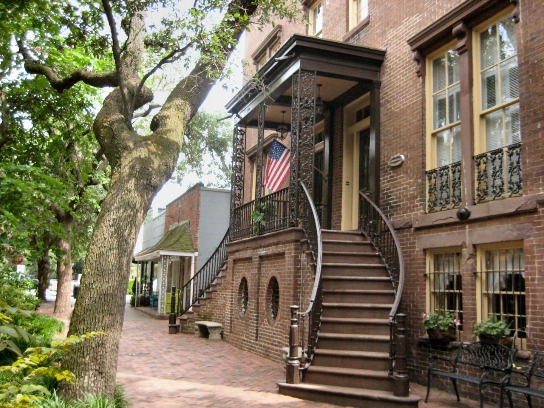 Una de las muchas casas históricas de Savannah Savannah GA Estados Unidos