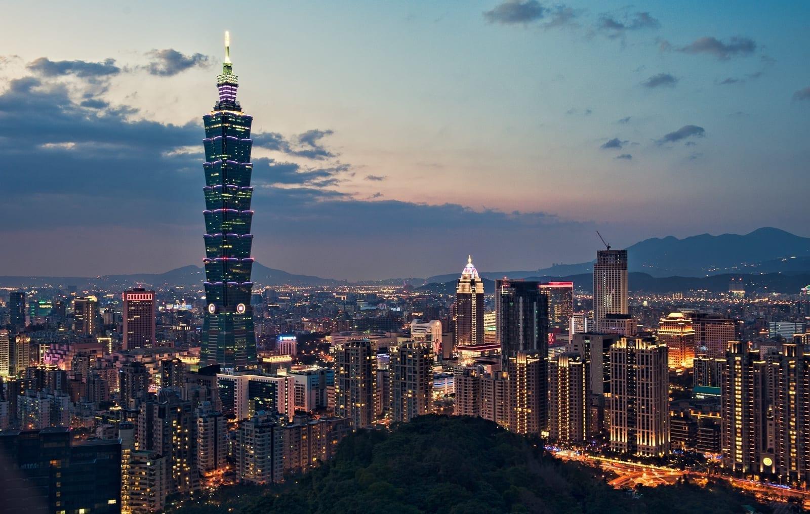 Una tarde en Taipei desde la Montaña del Elefante Taipéi Taiwán