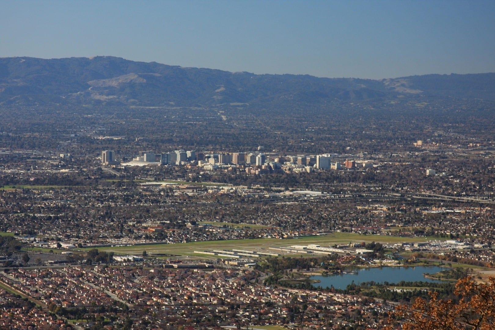 Una vista aérea del centro de San José San José CA Estados Unidos