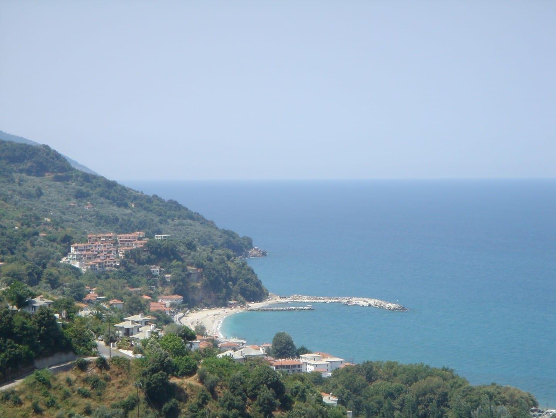 Una vista de la playa de Agios Ioannis, Mykonos Miconos Grecia