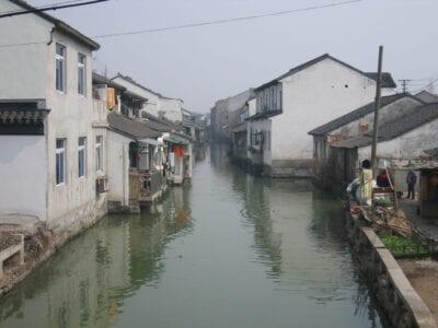 Uno de los canales Suzhou China