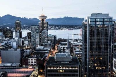 Vancouver Columbia Británica Centro De La Ciudad Canadá