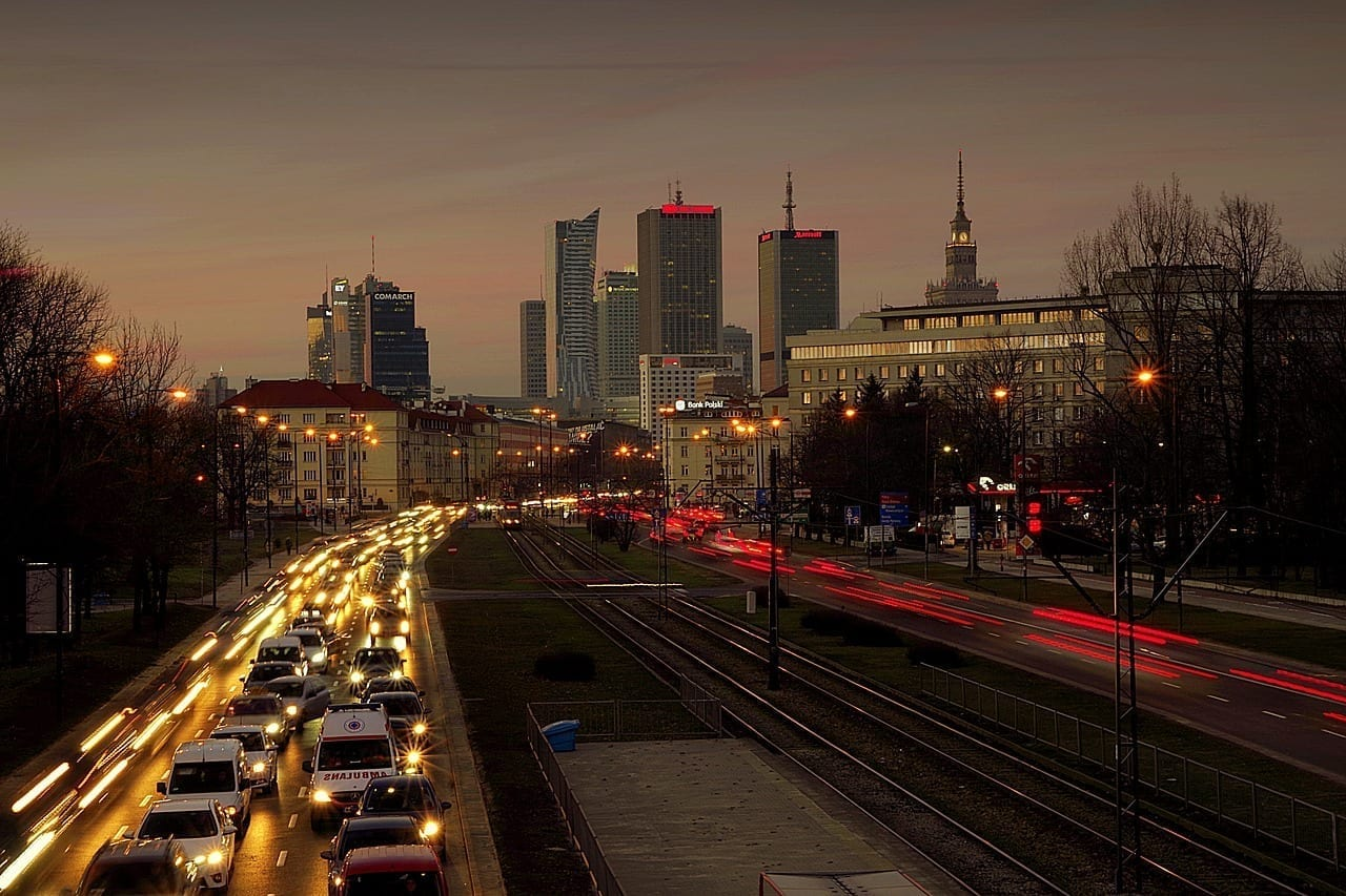 Varsovia Ciudad Calle Polonia