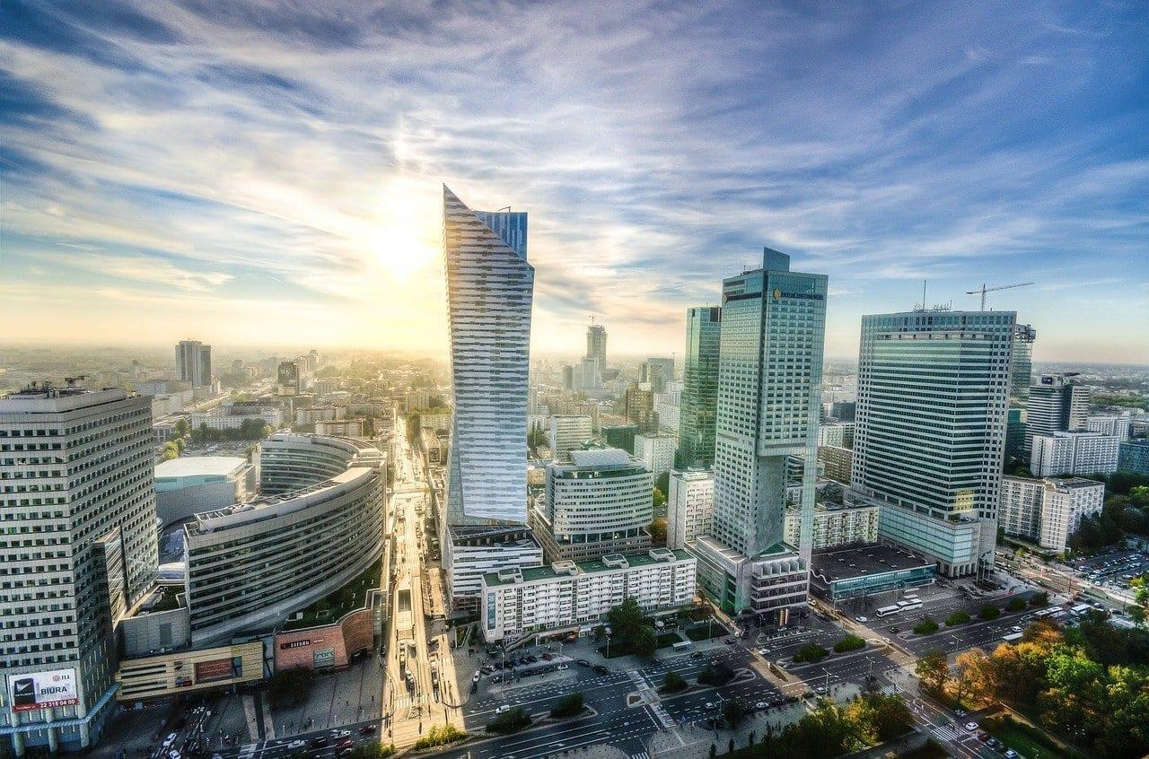 Varsovia Horizonte Paisaje Urbano Polonia