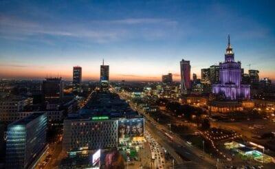 Varsovia Noche Polonia Polonia