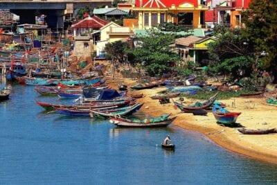 Vietnam Hoi An Barcos De Pesca Vietnam