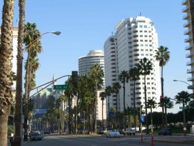 Vista de la calle en el centro de Long Beach Long Beach CA Estados Unidos