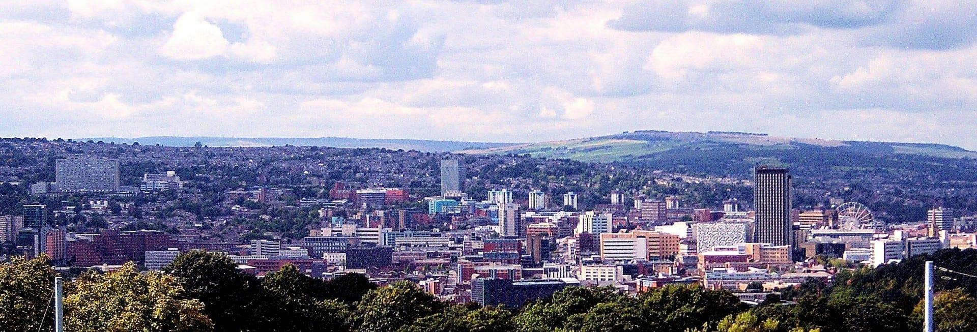Vista del centro de la ciudad de Sheffield Sheffield Reino Unido
