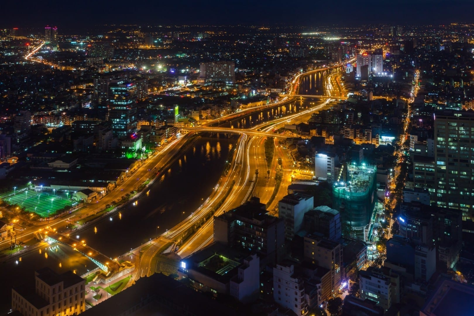Vista desde la Torre Financiera de Bitexco Ho Chi Minh (Saigón) Vietnam