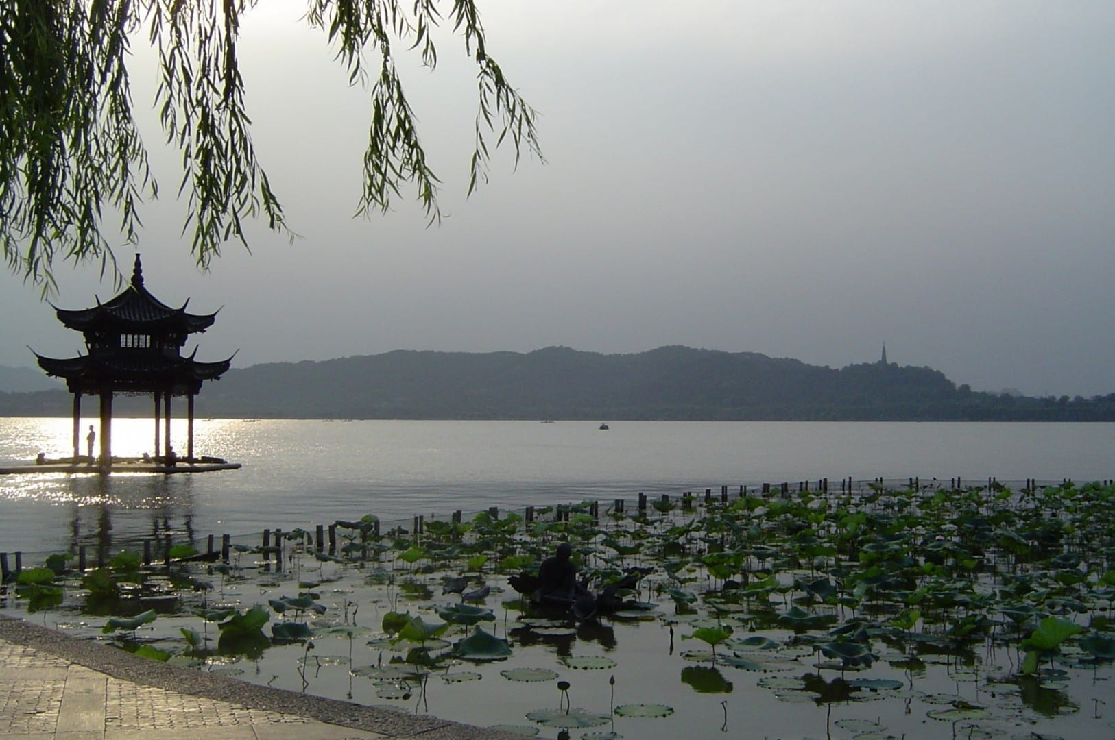 Vista sobre el Lago Oeste Hangzhou China